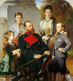 The Family Of The Grand Duke Of Hesse by Baron Heinrich Von Angeli (1840-1925, Austria)