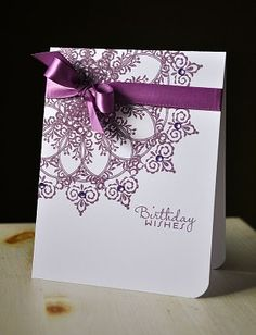 pretty handmade card