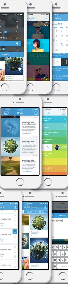 iPhone App Bootstrap 2 iOS 7-8