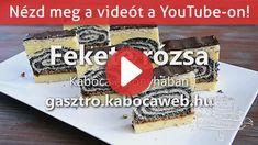 Fekete rózsa recept | Kabóca a konyhában Poppy, Baking, Youtube, Food, Bakken, Eten, Poppies, Bread, Backen