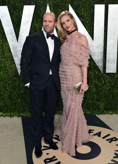 2013 Vanity Fair Oscar Party Hosted By Graydon Carter - Arrivals: Jason Statham and Rosie Huntington-Whiteley