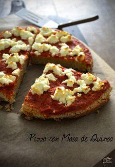 Pizza con Masa de Quinoa la pizza más rica y saludable que hay!! Súper sencilla de preparar!! #vegan #pizza #healthy #cleaneating #kids