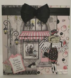 Card made using the stamps and cd-rom from the Frou Frou cd-rom from Crafter's Companion Prima Doll Stamps, Digi Stamps, Scrapbook Layouts, Scrapbooking, Birthday Cards, Happy Birthday, Artist Card, Paper Crafts, Diy Crafts