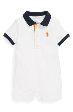 Ralph Lauren Polo Romper (Baby Boys) available at #Nordstrom
