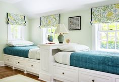 Cool Twin Bedroom Design with Double Bed for Teenage Room - Room Ideas. Your Home Improvement. 45610051 New Home Improvement Products. Ideas For Do It Yourself Rustic Home Decor Guest Bedrooms, Girls Bedroom, Bedroom Decor, Extra Bedroom, Twin Bedroom Ideas, Blue Bedroom, Master Bedroom, Lego Bedroom, Bedroom Blinds