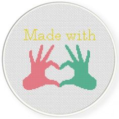 Made With Love Cross Stitch Illustration