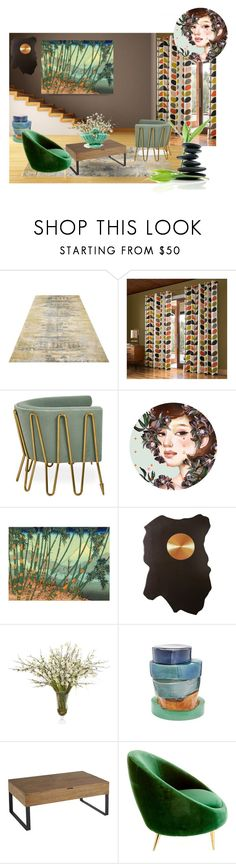 """cherry blossom in summer"" by meadowbat ❤ liked on Polyvore featuring interior, interiors, interior design, home, home decor, interior decorating, Orla Kiely, John-Richard, Lazy Susan and Pier 1 Imports"
