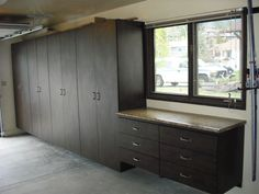 After garage cabinets storage system installed