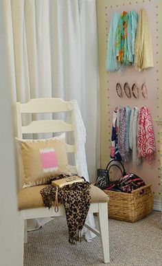 An accessory wall has a dual purpose of keeping you organized and decorating your room! Click the link for the how-to!
