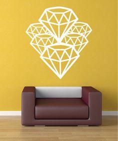 Vinyl Wall Decal Sticker Diamonds #OS_MB320 | Stickerbrand wall art decals, wall graphics and wall murals.