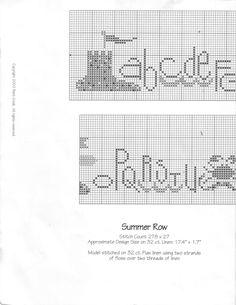 Schema punto croce Summer Row 02