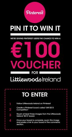 Pin It To Win It competition from Lttlewoods Ireland 2013 Competitions Uk, Create A Board, Marketing Plan, Pinterest Marketing, Ireland, Things I Want, How To Plan, My Love, Reading