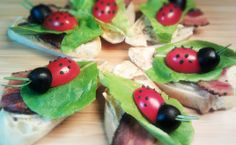 Ladybug BLTs – so cute, so delicious! www.tastefullysimple.com/web/efetterolf