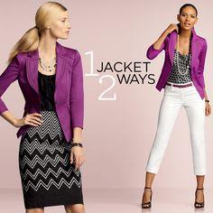 1 jacket, 2 ways.  #whbm #spring