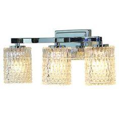 Allen + Roth Flynn 3-Light 8.5-In Polished Chrome Cylinder Vanity Light Lws19761g1