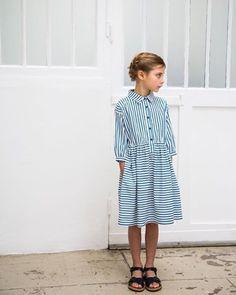 Robe rayée Hello Simone striped kids dress #KidsFashionStudio