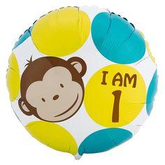 Mod Monkey I am 1 Foil Balloon