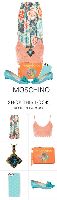 """Moschino Bag Contest"" by shamrockclover ❤ liked on Polyvore featuring Mara Hoffman, Topshop, Moschino, Casetify and Rupert Sanderson"