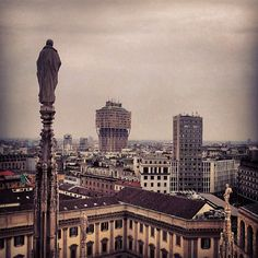 Milano view from Duomo. #Milano #mytravelblog photo by Stella Marega (please credit if you use it elsewhere)