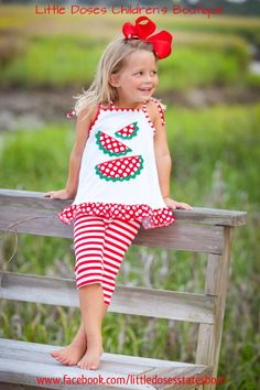 Bella's adorable little spring and summer watermelon outfit!