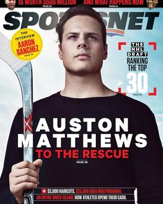 The @SportsNet cover of #Hockey player @Auston_Matthews that I photographed last month. A very humble kid that is going to be a #NHL legend. @A_Matthews34