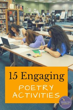15 Fun Poetry Activities for High School Try these fun poetry writing worksheets. Students will create book spine poems, a fun activity for middle school and high school English language arts! Poetry Activities, High School Activities, School Games, Teaching Poetry, Writing Poetry, Poetry Unit, Teaching Reading, Poetry Lessons, English Classroom