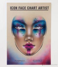 Facechart. Makeup Artist: Anastasia Vasyukova