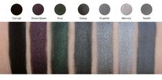 Makeup Geek Eye Shadows (dark)