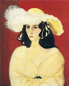 Henri Matisse French Painter and Sculptor (Fauvism) The White Feathers, 1919 (Baltimore Museum of Art, Baltimore, Maryland, U. Henri Matisse, Matisse Kunst, Matisse Art, Andre Derain, Raoul Dufy, Matisse Pinturas, Carl Spitzweg, Matisse Paintings, Art Sur Toile