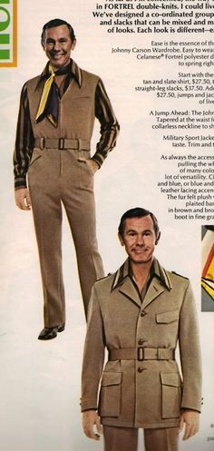 Johnny Carson Wardrobe - gotta love that polyester double knit