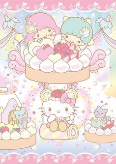 ★ Baby Mon Cher ★ Little Twin Stars ★ Hello Kitty ★ Sanrio Hello Kitty, Chat Hello Kitty, Hello Kitty My Melody, Hello Kitty Images, Kitty Kitty, Sanrio Wallpaper, Hello Kitty Wallpaper, Kawaii Wallpaper, Little Twin Stars