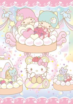 【2012】【baby Mon cher x SANRIO】Cake ★Little Twin Stars★