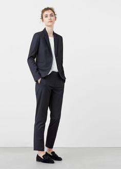 Patterned suit blazer | MANGO
