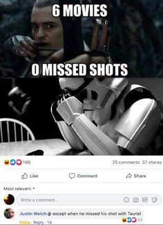r/murderedbywords -- #funny #funnymemes #funnypictures #funnyquotes #funnyanimals #jokes #funnytexts #lotrmemes Funny Images, Funny Pictures, Star Wars Jokes, Fandom Crossover, Movie Memes, Legolas, Middle Earth, Lord Of The Rings, Lotr