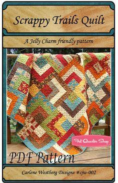 Scrappy Trails Downloadable PDF Quilt Pattern Carlene Westberg - Fat Quarter Shop.