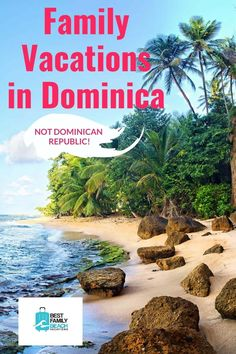 If you are planning family vacations in Dominica you need to be aware that this is an island of approximately 29 miles long and 16 miles wide. Also do not confuse it with the Dominican Republic, Dominica and the Dominican Republic are two completely different countries that are not related to each other in any way, other than being in the same region (the West Indies). Best Resorts For Kids, Best Family Beaches, All Inclusive Family Resorts, Family Vacation Destinations, Family Vacations, Family Travel, Travel Destinations, Travel Route, Travel Tips