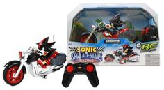 """Shadow the Hedgehog ~8"""": Sonic and Sega All Stars Racing Remote Controlled Car by NKOK. $39.99. Shadow was created by Prof. Gerald Robotnik as the Ultimate Life Form. Shadow is sharp witted, seemingly always on the edge, and is described as the dark incarnation of Sonic the Hedgehog. Once he has set himself to a goal, he will do whatever it takes to accomplish it, regardless of any danger. This tough RC car featuring Shadow has a full function remote control an..."""