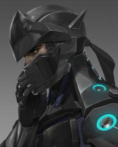 Overwatch,Blizzard,Blizzard Entertainment,фэндомы,Overwatch art,Genji…