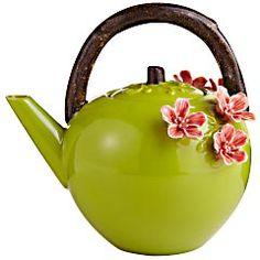 Pier 1 3D Flower Teapot