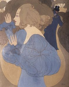 The Follower, 1890s by Georges de Feure (French 1868-1943)
