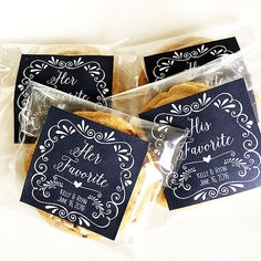 Items similar to Personalized Wedding Favor Tags for Snack Bag Labels, Cookie Bag Label- His Favorite and Her Favorite Included- Digital File on Etsy – Wedding Favors Tags Cookie Wedding Favors, Creative Wedding Favors, Candy Party Favors, Cookie Favors, Wedding Favors For Guests, Personalized Wedding Favors, Wedding Favor Tags, Bridal Shower Favors, Wedding Invitations