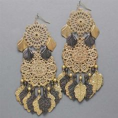 Luxe Beauty Supply - Basketball Wives Inspired Gold Black Leaf Dangle Earrings (http://www.lhboutique.com/basketball-wives-inspired-gold-black-leaf-dangle-earrings/) #FashionJewelry, #LuxeBeautySupply, #FashionAccessories