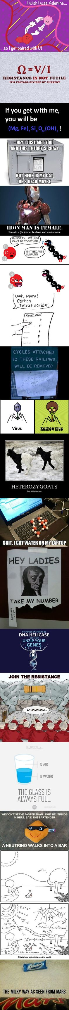 Science Jokes. I seriously laughed for like 10 minutes