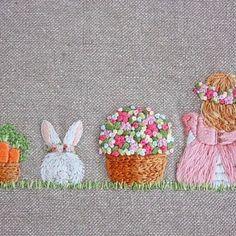 * . ほのぼの... . . #刺繍#手刺繍#手芸#embroidery#handembroidery#stitching#needlework#자수#broderie#bordado#вишивка#stickerei