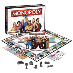 Boardgames - Monopoly The Big Bang Theory. Boardgames - Monopoly The Big Bang Theory Big Bang Theory Gifts, Big Bang Theory Merchandise, The Big Theory, Monopoly Board, Monopoly Game, Narnia, Super Collider, Classic Board Games, Game Pieces