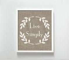 11x14 Live Simply print. $22.00, via Etsy.