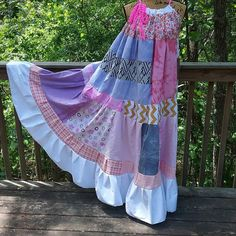 Prairie DressSun DressBeach DressGypsy DressHippie #hippie #patchwork #gypsy #bohemian #festival