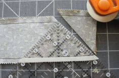 Tutorial: Half Square Triangle using a Tube by betsy