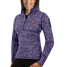 Orlando City SC Antigua Women's Fortune 1/4-Zip Pullover Jacket - Purple