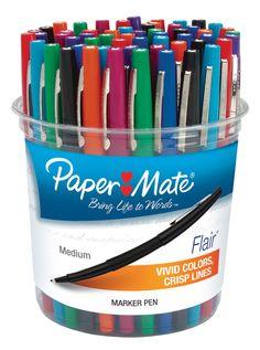Paper Mate® Flair Felt Tip Marker Pen, Assorted Ink, Medium, 48 Pens/Set Cool School Supplies, Teacher Supplies, Art Supplies, Classroom Direct, Writing Correction, Felt Tip Markers, Princess Invitations, Marker Pen, Pen Sets